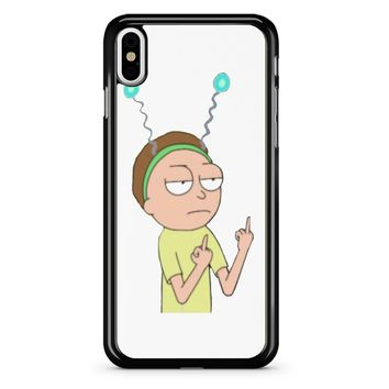 Rick And Morty Morty Middle Finger 2 iPhone X Case
