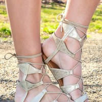 Get Going Gladiator Sandals-Gold
