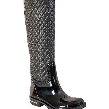 Black Quilted Axel Rain Boot | zulily