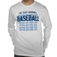 Eat. Sleep. BASEBALL Batting and Home Runs G203 Tee Shirt