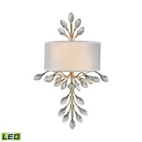 Asbury 2 Light LED LED Wall Sconce In Aged Silver