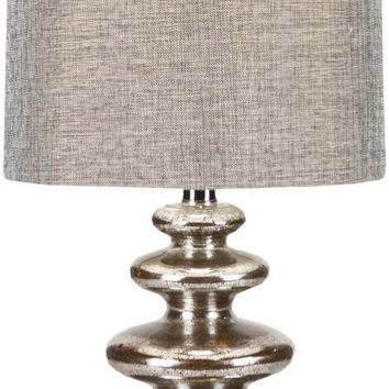 Lamp Glam Table Lamp Aged Mercury Glass Silver
