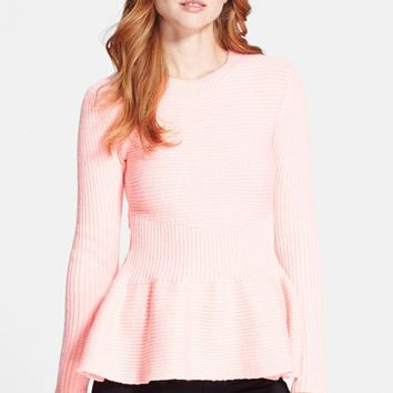 Women's Ted Baker London 'Edeniaa' Rib Knit Peplum Sweater