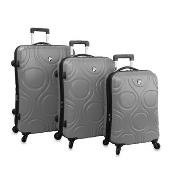 Heys® Eco Orbis™ 3-Piece 4-Wheel Spinner Upright Luggage Set in Pewter