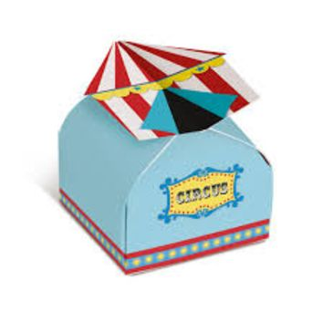CIRCUS PARTY -  Small Party Favor Box - 24 units