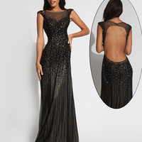 Sleeveless open back gown 89642 - Prom Dresses