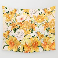 Wordsworth  and daffodils.  Wall Tapestry by Anipani