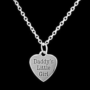 Daddy's Little Girl Heart Mother's Day Gift Daughter Gift For Her Necklace
