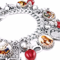 Alice in Wonderland Charm Bracelet, The Red Queen