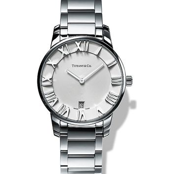 TIFFANY & CO - Atlas® 2-Hand 37.5mm watch in stainless steel | Selfridges.com