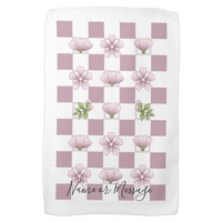 Cherry Blossom - Sakura - Pink Floral Pattern Name Towel