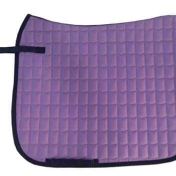Dark Purple English saddle pad