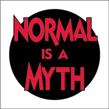 "Normal is a Myth 4"" x 4"" square sticker"
