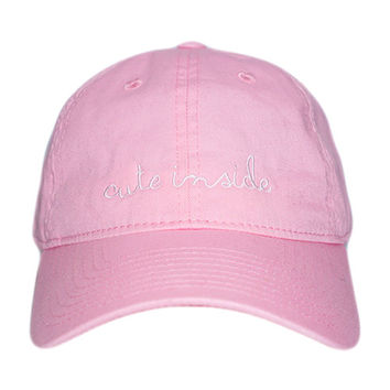 Cute Inside Cap Baby Pink