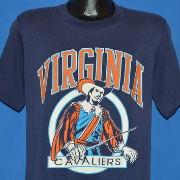90s Virginia Cavaliers Pirate Logo t-shirt Medium