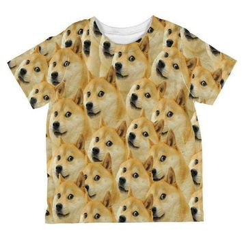 CREYCY8 Doge Meme All Over Toddler T Shirt