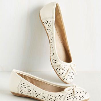 Perform Follows Function Flat in Cream | Mod Retro Vintage Flats | ModCloth.com