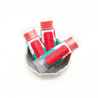 Hunger Games Real or Not Real lip balm tint. Sheer Rose red.