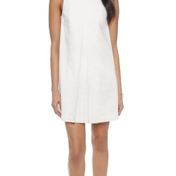 Apiece Apart Clio Pleat Front Mini Dress