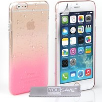 Yousave Accessories iPhone 6 Case Baby Pink / Clear Raindrop Hard Cover