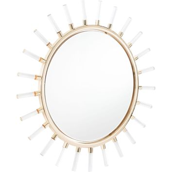 Gold Sunglight Wall Mirror