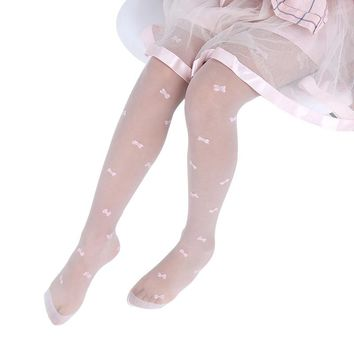 Lawadka 2018 Flower Pattern Children Girls Tights Summer Thin Baby Girls Sheer Stockings Transparent pantyhose for 2-15Years