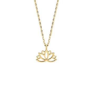 Lotus Flower Necklace - Gold Plated