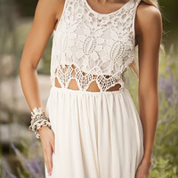 The WoW Factor Lace Dress IVORY