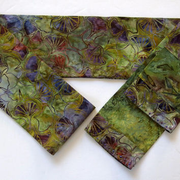 "Bestselling Ginkgo Scarf / 5"" Wide  78"" Long / Gingko Scarf / Unique Handmade Scarves / Batik Scarves / Hand Dyed Scarves / Asian Scarves"