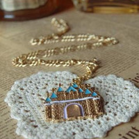 Sleeping Beauty Fantasy Disney Dream Castle Pendant Costume Necklace Fairy Tale