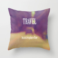 Go Forth and Travel Pillow Cover
