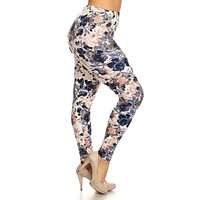 Floral Garden Design Plus Size Leggings