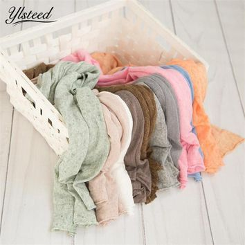 Newborn Stretch Knit Wrap Baby Photography Props Blanket Newborn Photography Wrap Infant Photo Shooting Basket Stuffer Blanket