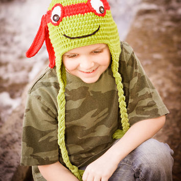 TMNT Turtle Hats Red - Kids to Adult Sizes!