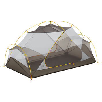 The North Face Triarch 2 Tent: 2-Person 3-Season Summit Gold/Weimaraner Brown, One