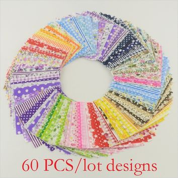 60 pieces Multicolor floral Cotton Fabric stash handmade DIY creative small cloth patchwork fabric quilting no repeat design tis