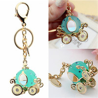 s Pumpkin Car Keychain Alloy H -painted Craft Hangings Purse Backpack Keyring Chains Fobs Accessories SM6