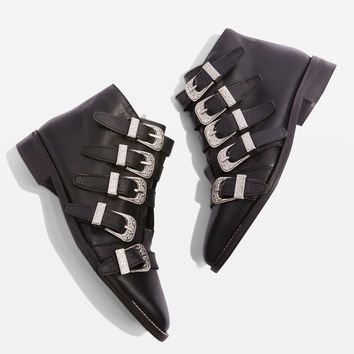 ANDI Multi Buckle Ankle Boots | Topshop