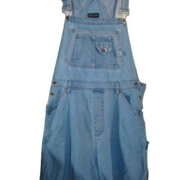 vintage denim jean CARPENTER overalls shortalls coveralls shorts playsuit size 1x 2x hipster indie boho