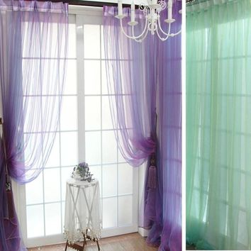 Curtain for living room bedroom Size 200cm x 100 cm Sheer Voile String Door Curtain Window Room Curtain Divider Scarf cortinas