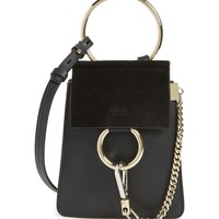 Chloé Faye Small Suede & Leather Bracelet Bag | Nordstrom