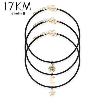 Star Moon Sun Chokers 3 Pcs Sets Necklaces