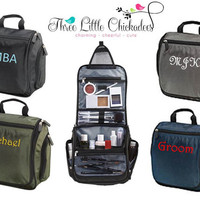 Personalized Monogram Hanging Travel Toiletry Bag Kit