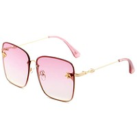 Gucci Stylish Ladies Men Simple Bee Summer Sun Shades Eyeglasses Glasses Sunglasses Pink I-ANMYJ-BCYJ