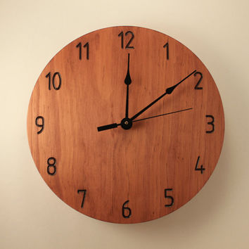 Modern wood clock Wall clock Wooden wall clock Neutral clock Numbered clock Home clock Cool clock Home decor Office clock Plain clock