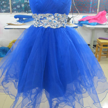 Custom tulle short Ball gowns Bridal Gown Bridesmaid Dress Evening Prom Dress