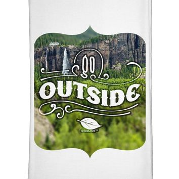 Go Outside - Beautiful Cliffs Flour Sack Dish Towels by TooLoud