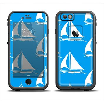 The Blue Vector Sailboats Apple iPhone 6 LifeProof Fre Case Skin Set