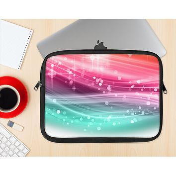 The Vibrant Multicolored Abstract Swirls Ink-Fuzed NeoPrene MacBook Laptop Sleeve
