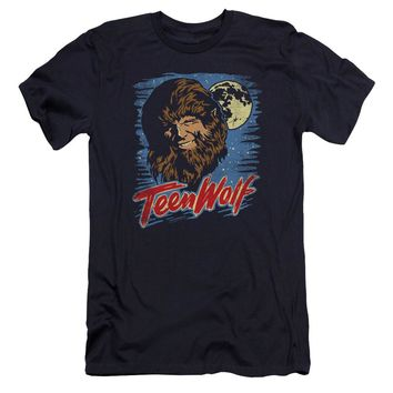 Teen Wolf - Moon Wolf Premium Canvas Adult Slim Fit 30/1 Shirt Officially Licensed T-Shirt